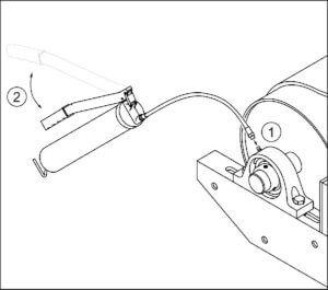 technische illustration strichzeichnung fettpresse