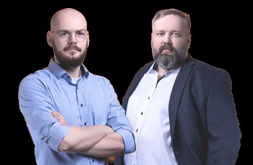 Portraits von Christian Engels und Willi Ens